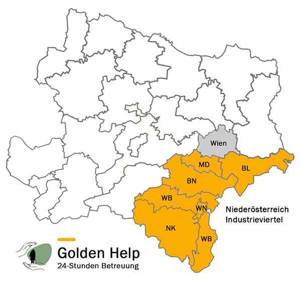 Golden Help Karte Gebiet